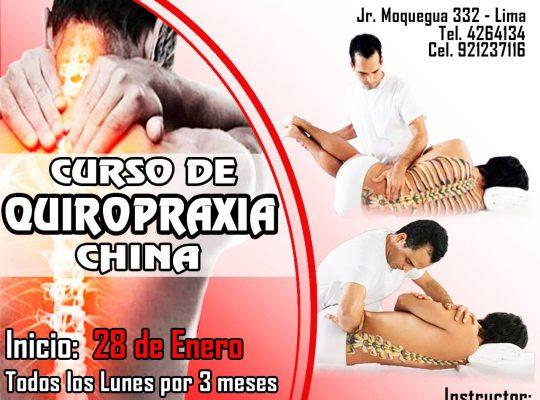 CURSO DE QUIROPRAXIA CHINA