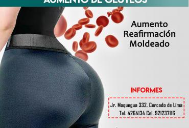 AUMENTO DE GLÚTEOS Y CADERAS CON PLASMA GEL