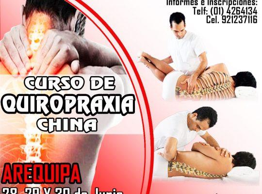 CURSO DE QUIROPRAXIA CHINA  –  Arequipa