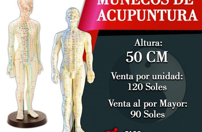 MUÑECOS DE ACUPUNTURA